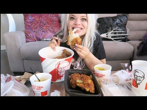 eating my weight in fried chicken | KFC MUKBANG (EATING SHOW)