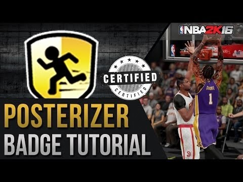 NBA 2K16 | Posterizer Badge Tutorial | Dunkin on your head