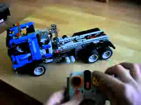 Lego 8264 Hauler Rc With Lego 8052 Container Truck Rc With Conveyor