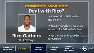 Cowboys Mailbag: Rico Gathers Usage, Earl Thomas Trade, Trading For A DT & Re-Signing David Irving