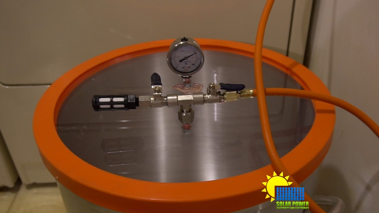DIY How to make a vacuum pump for a vacuum chamber.