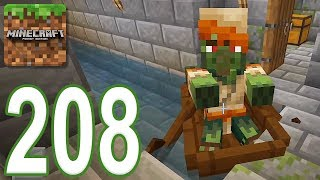 Minecraft: PE - Gameplay Walkthrough Part 208 - Escape The Zombie Dungeon (iOS, Android)