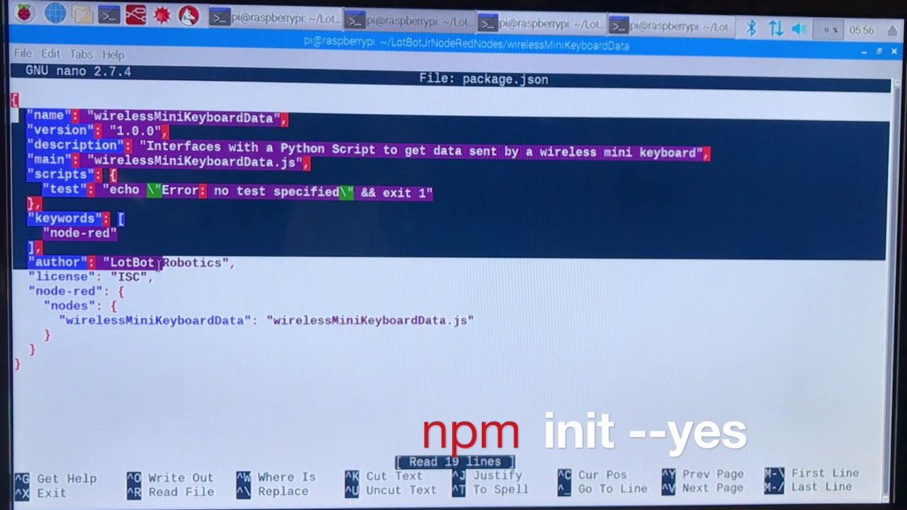 LotBot Jr (Part 3 - Node Red Node code) - an ESP32, Raspberry PI, Node Red,  MQTT, Wifi A P Project