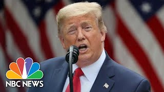 Live: President Donald Trump Makes Statement Amid Nationwide Policy Brutality Protests | NBC News