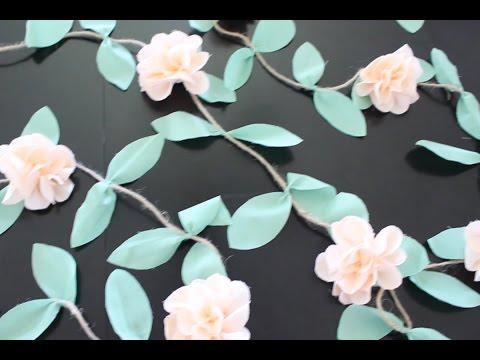 Fabric Flower Garland Tutorial