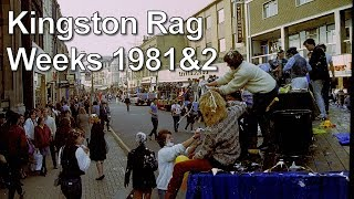 Kingston Rag 1981 and 1982 procession through Kingston upon Thames