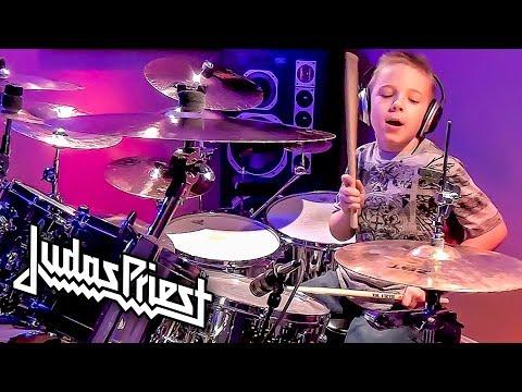 PAINKILLER - JUDAS PRIEST (7 year old Drummer) Drum Cover by Avery Drummer Molek
