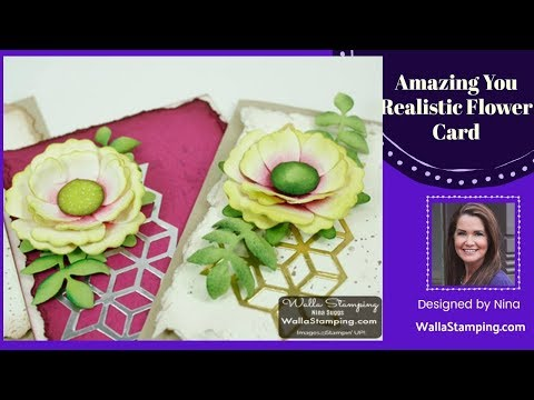 Amazing You Realistic Flowers Card