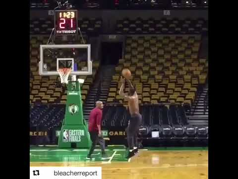 KING JAMES EARLY IN THE GYM TODAY! WILL HE DROP ATLEAST 40 TONIGHT????