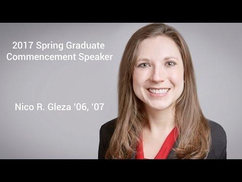 2017 Spring Graduate Commencement Address