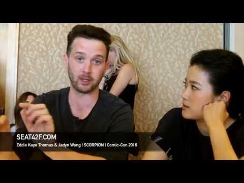Eddie Kaye Thomas & Jadyn Wong SCORPION  Comic Con 2016