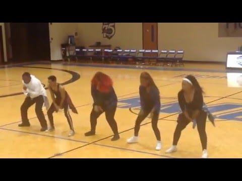 Blue Chucks Dance Team at Spartanburg Methodist College