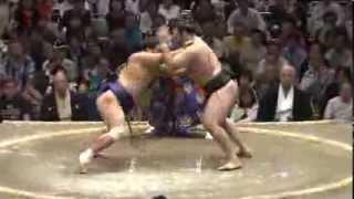 平成25年秋場所4日目 いつもは物言いで不利なカロヤンが・・・! sumo ...