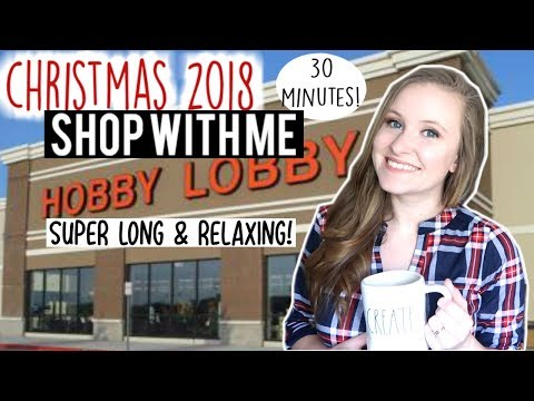 🎄christmas-shop-with-me- -long-&-relaxing-hobby-lobby-shop-with-me