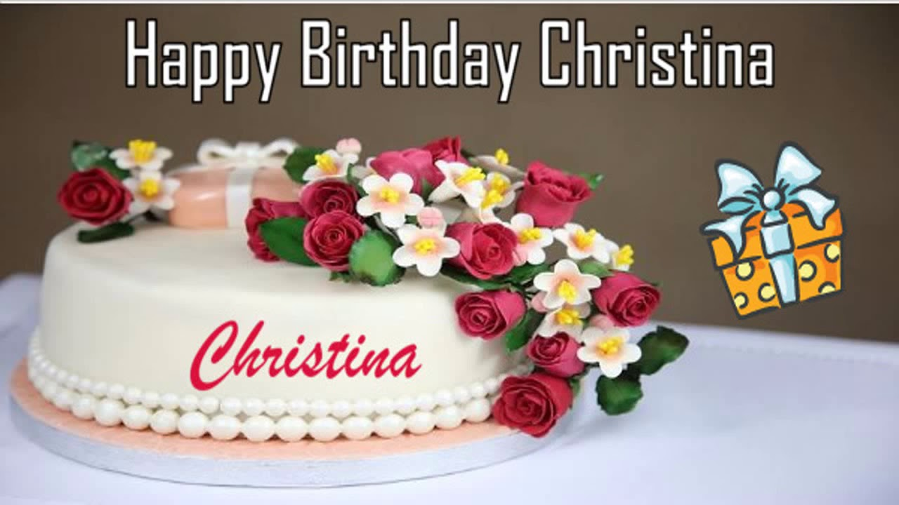 Happy Birthday Christina Image Wishes Youtube
