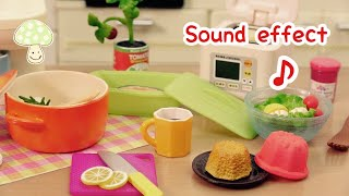 【RE MENT】2012s「Happy Recipes 」Handmade meals ~Sound effect~