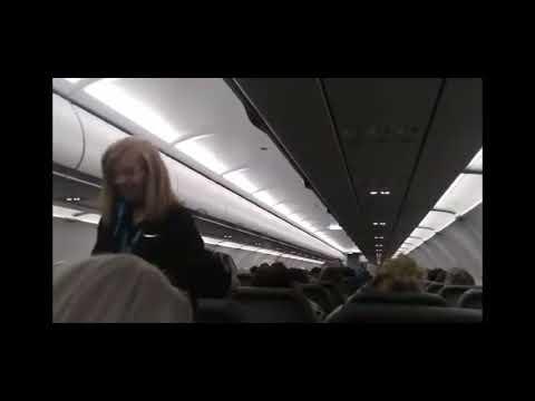 Frontier Funny Flight Attendant