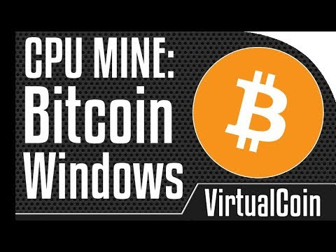 How to mine bitcoin using windows cpu youtube how to mine bitcoin using windows cpu ccuart Image collections