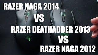 razer Naga 2014 vs Razer Naga 2012 vs Razer Deathadder 2013