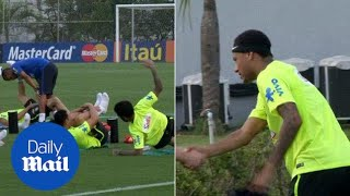 Neymar and Brazil in core strength session ahead of Argentina - Daily Mail