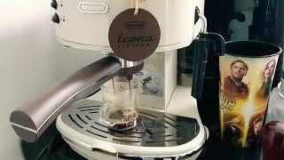 드롱기 아이코나 커피 내리는 영상