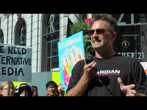 Steven T. Jones at the SFBG Rally 22 Oct 2014