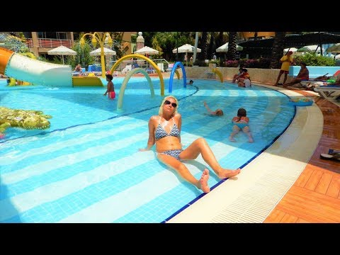 walk around the pool at the excellent pegasos world hotel one of