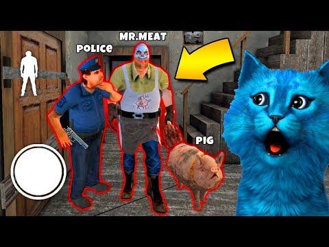 ДЕЛАЮ КОНЦОВКУ ПРОТИВ МЯСНИК МИСТЕР МИТ ПОЛИЦИЯ ДОБРАЯ КОНЦОВКА СОСЕД Mr Meat Game КОТЁНОК ЛАЙК