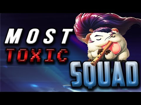 MOST TOXIC SQUAD!!! | HOW TO LOSE FRIENDS 101 | NASUS TOP - Trick2G