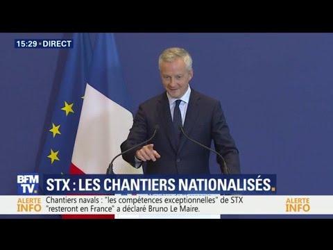 Bruno Le Maire annonce la nationalisation de STX France
