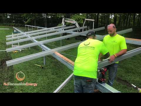 Building a 33 KW ground mount solar array in Galloway, NJ