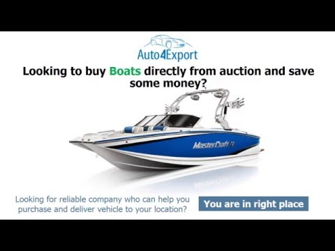 Boat auctions USA -Auto4Export