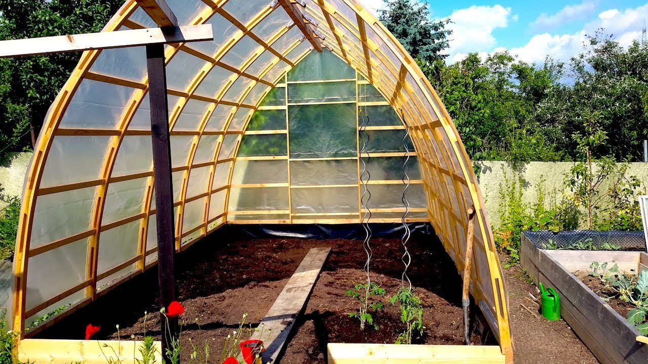Building A Gothic Arch Greenhouse Part 2 Youtube
