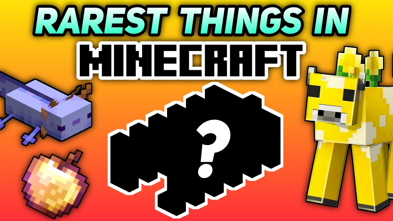 Most Rarest Things in Minecraft🔥Top 10 Rarest and Hardest Things to get in Minecraft
