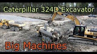 Caterpillar 324D Excavator at Work- Big Machines-Volvo 210B steam shovel,