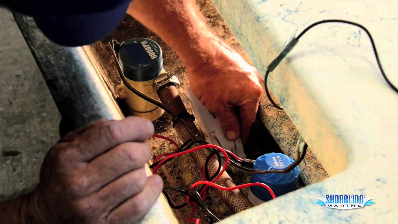 maxresdefault how to install a float switch & bilge pump youtube sea ray bilge pump wiring diagram at alyssarenee.co
