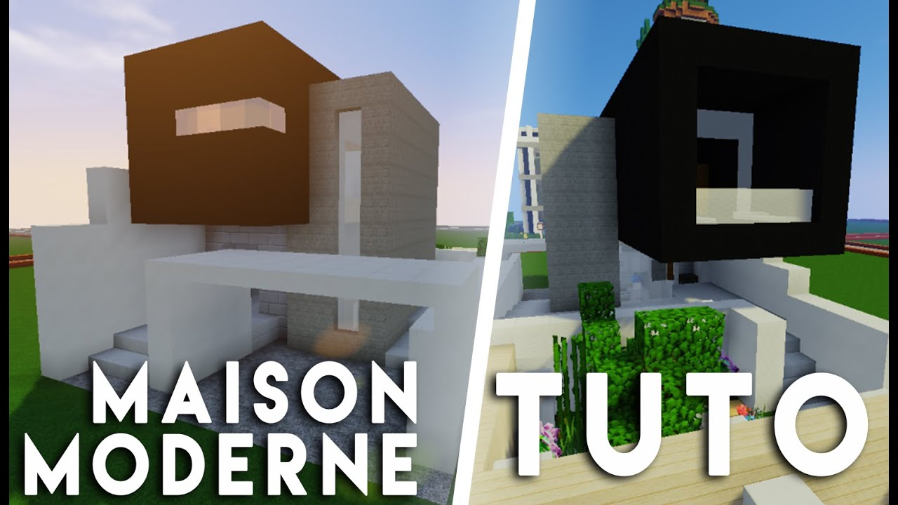 Minecraft tuto construction d 39 une maison moderne sur for Minecraft construction maison moderne