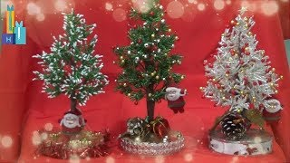 Pinheirinhos de Natal com miçangas-Christmas trees made beads and wire
