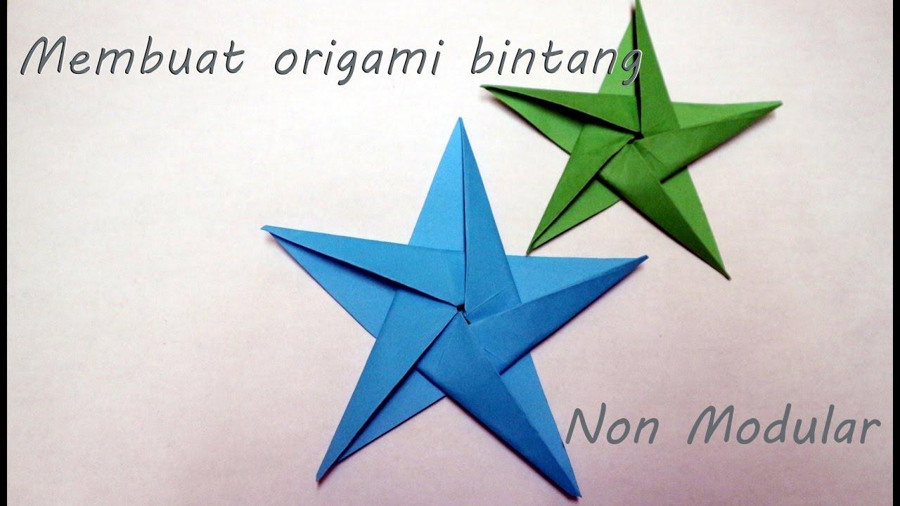 tutorial origami bintang