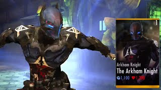 THE ARKHAM KNIGHT Super Attacks | INJUSTICE New Character | iOS, Android