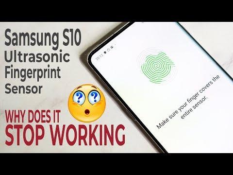 Why does the Samsung Galaxy S10 Ultrasonic Fingerprint