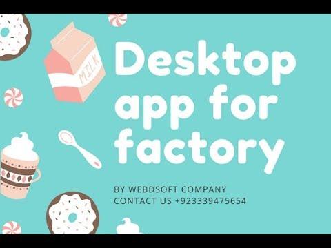 Desktop app for factory (Factory Management system)