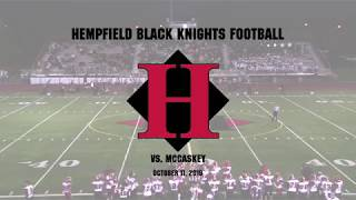 Hempfield vs. McCaskey Senior Night Football Game 10/11/2019