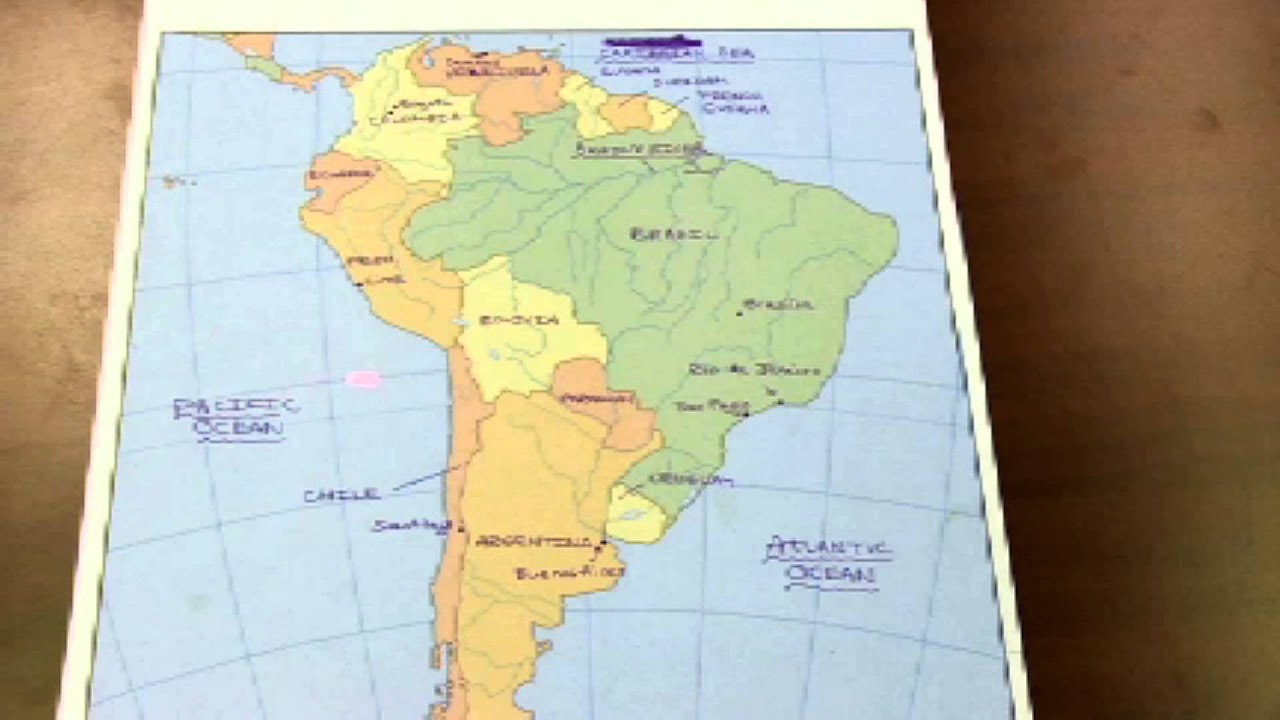 South America Map Test - YouTube