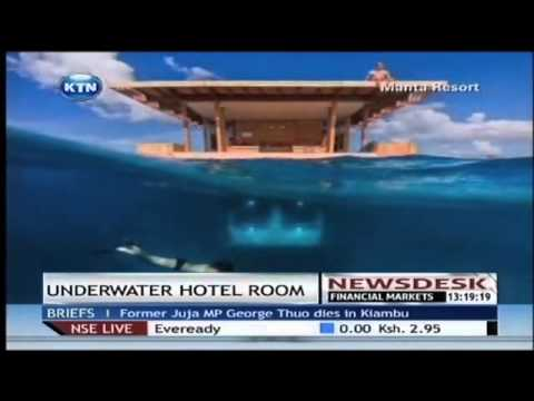 The hotel room under water
