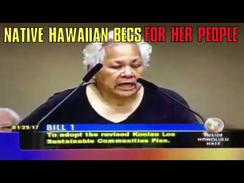 Hawaiian woman begs City Council for her people's land