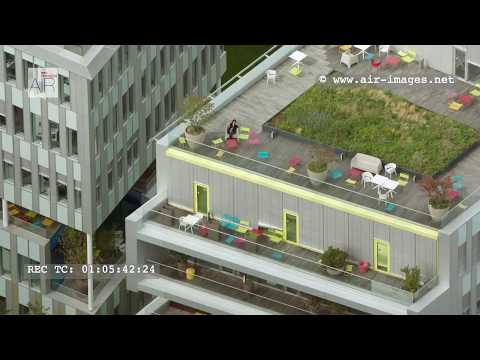 Aerial Footage Office buildings Campus SFR in Saint-Denis