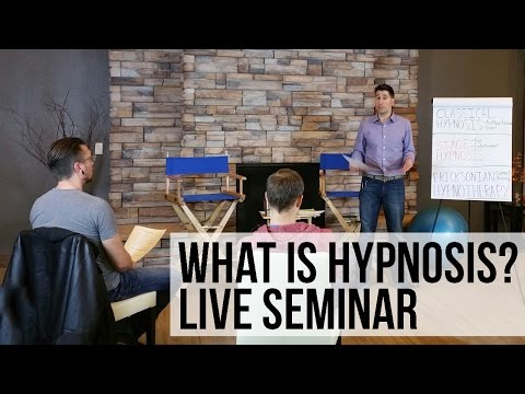 FREE Hypnotherapy Training Seminar - What Is Hypnosis?