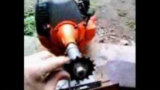 How To Build A Weed Eater Bike( Putting A Sprocket On A Weed Eater Motor)