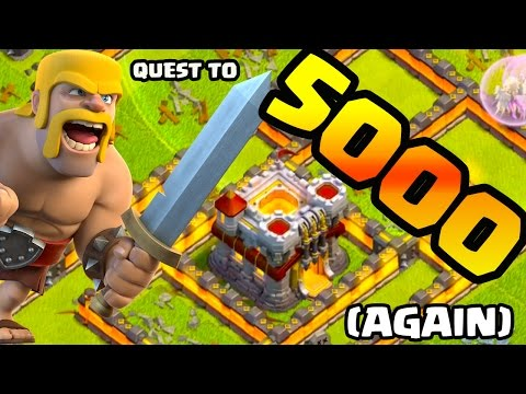 Clash of Clans Quest to 5000 Trophies - AGAIN!